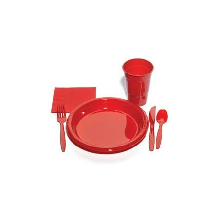 Plastic Party Pack in Red