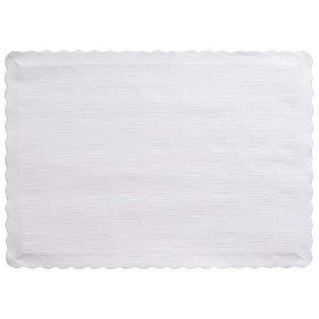 Solid Color Paper Placemats - White
