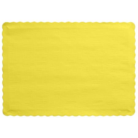 Solid Color Paper Placemats - Mimosa