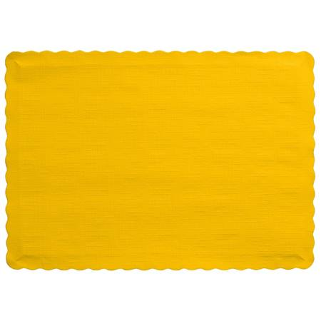 Solid Color Paper Placemats - School Bus Yellow