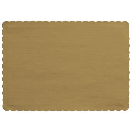 Solid Color Paper Placemats - Glittering Gold