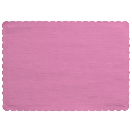 Solid Color Paper Placemats - Candy Pink