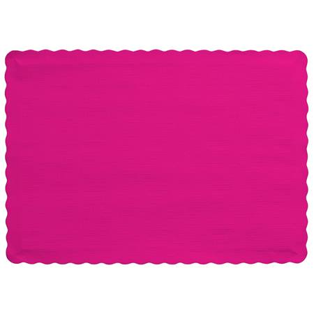 Solid Color Paper Placemats - Hot Magenta