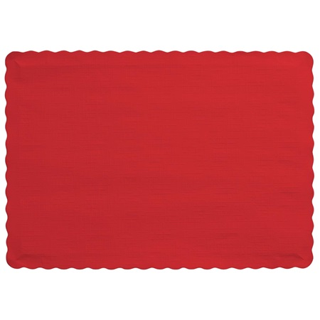 Solid Color Paper Placemats - Red