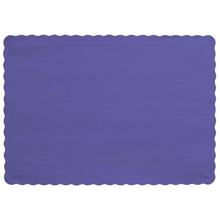 Solid Color Paper Placemats - Purple