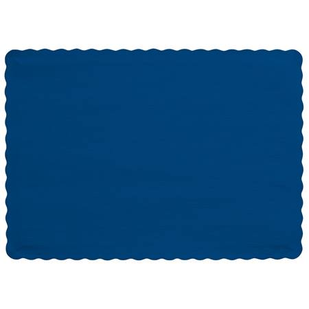 Solid Color Paper Placemats - Navy Blue