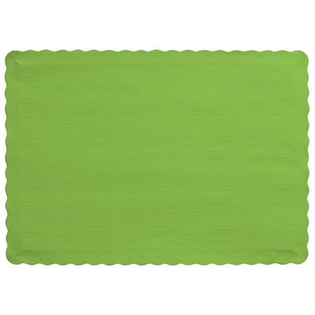 Solid Color Paper Placemats - Lime
