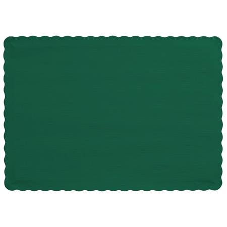 Solid Color Paper Placemats - Hunter Green