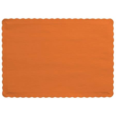 Solid Color Paper Placemats - Sunkissed