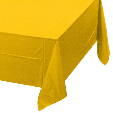 School Bus Yellow Solid Color Polyvinyl Table Cover