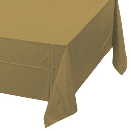 Glittering Gold Solid Color Polyvinyl Table Cover