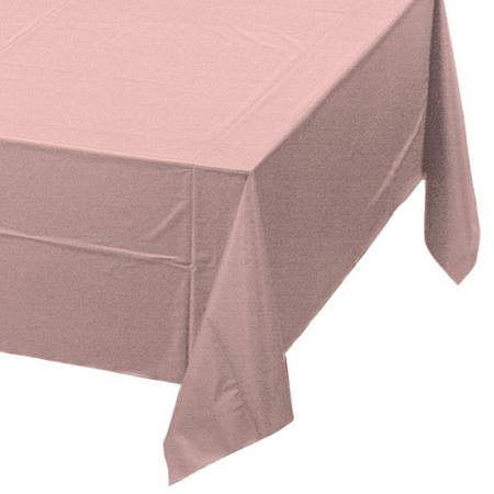 Classic Pink Solid Color Polyvinyl Table Cover