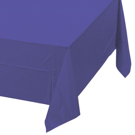 Purple Solid Color Polyvinyl Table Cover