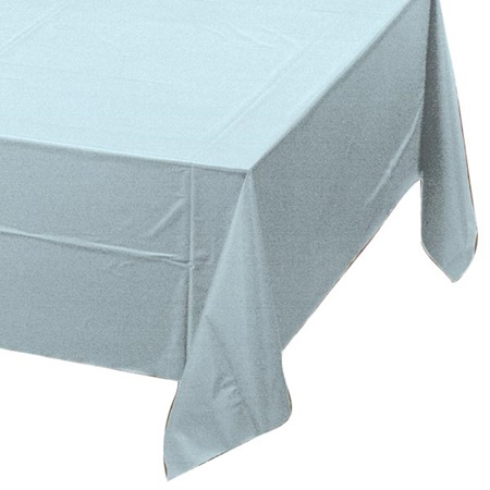 Pastel Blue Solid Color Polyvinyl Table Cover