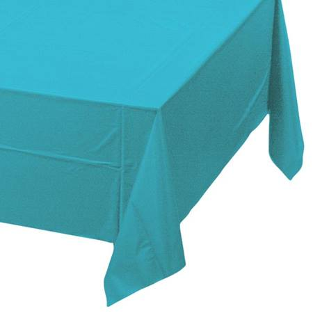 Bermuda Blue Solid Color Polyvinyl Table Cover