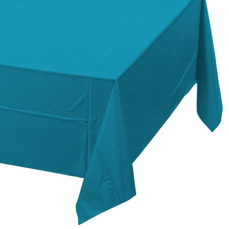 TurquoiseSolid Color Polyvinyl Table Cover