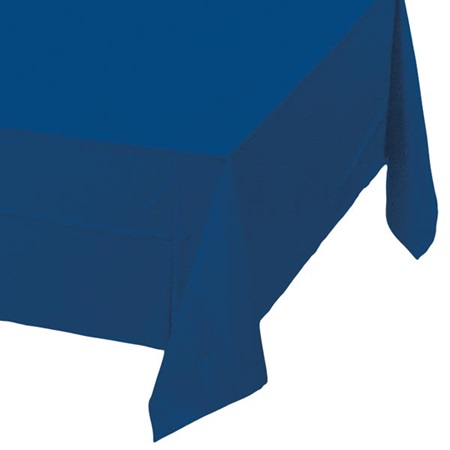 Navy Blue Solid Color Polyvinyl Table Cover