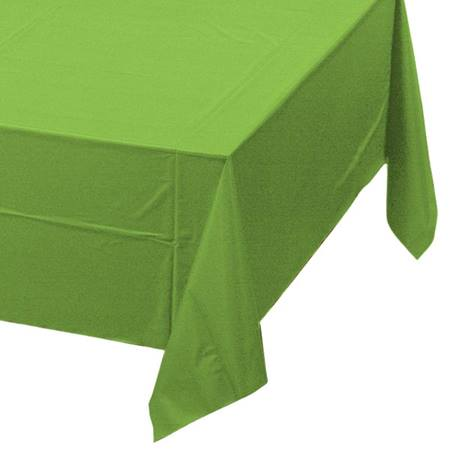 Lime Green Solid Color Polyvinyl Table Cover
