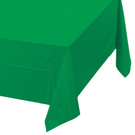 Emerald Green Solid Color Polyvinyl Table Cover