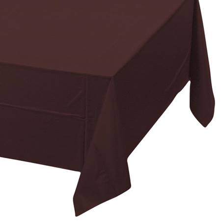Chocolate Brown Solid Color Polyvinyl Table Cover