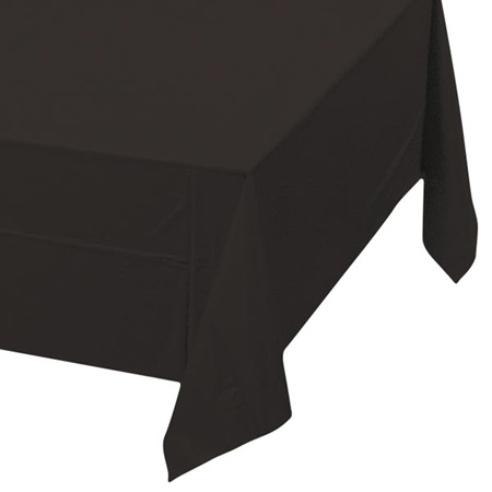 Black Velvet Solid Color Polyvinyl Table Cover