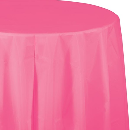 Candy Pink Solid Color Polyvinyl Table Cover