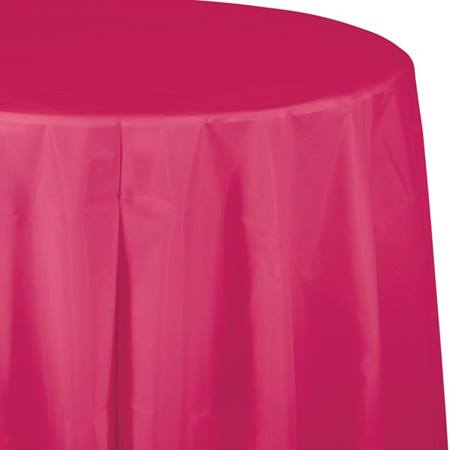 Hot Magenta Solid Color Polyvinyl Table Cover