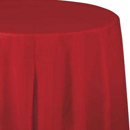 Red Solid Color Polyvinyl Table Cover
