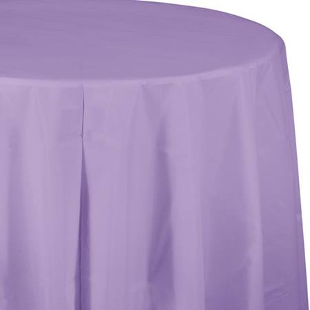 Lavender Solid Color Polyvinyl Table Cover