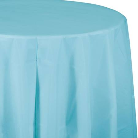 Pastel BlueSolid Color Polyvinyl Table Cover