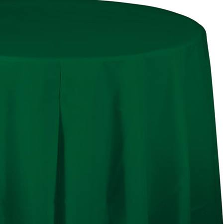 Hunter Green Solid Color Polyvinyl Table Cover