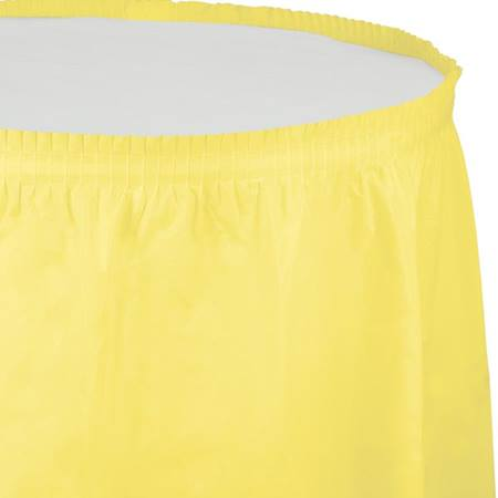 Solid Color Polyvinyl Table Skirt - Mimosa
