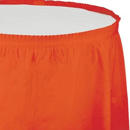 Solid Color Polyvinyl Table Skirt - Bittersweet