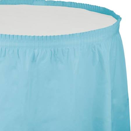 Solid Color Polyvinyl Table Skirt - Pastel Blue