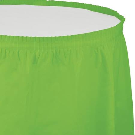 Solid Color Polyvinyl Table Skirt - Lime