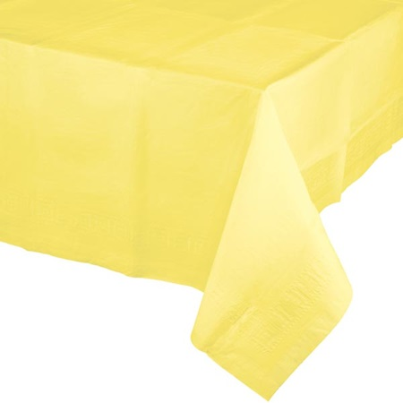Poly Lined Tissue Tablecover - Mimosa