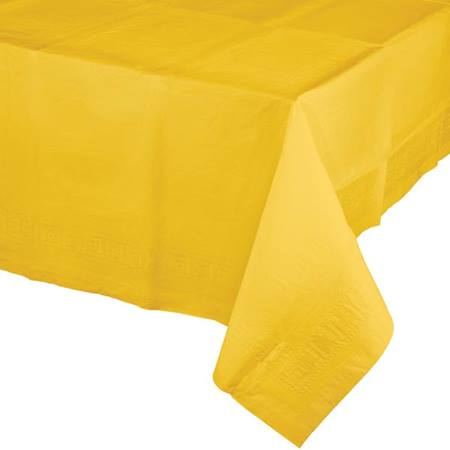 Poly Lined Tissue Tablecover - School Bus Yellow