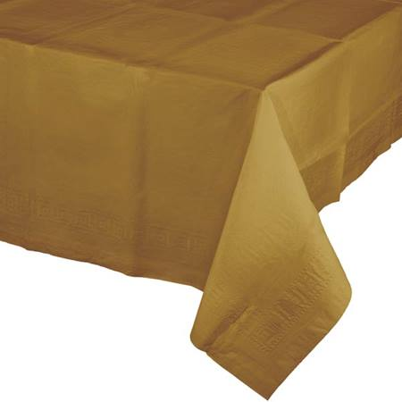 Poly Lined Tissue Tablecover - Glittering Gold