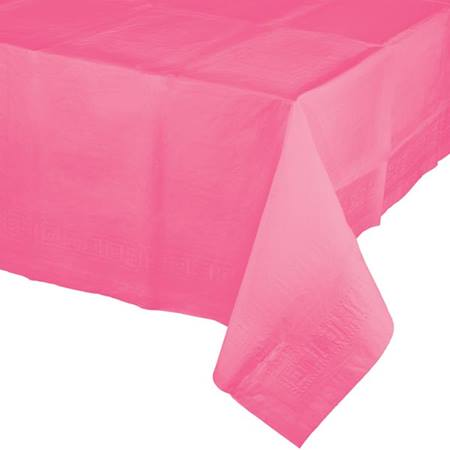 Poly Lined Tissue Tablecover - Candy Pink