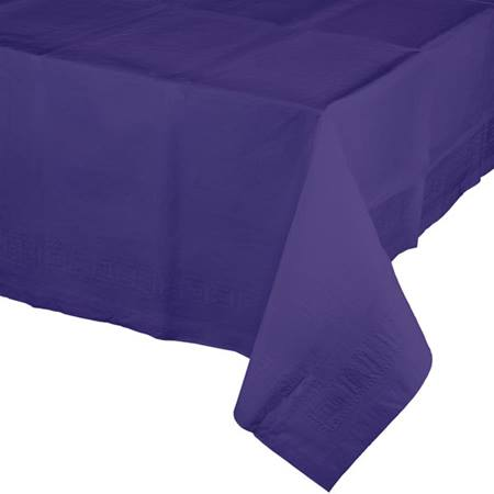 Poly Lined Tissue Tablecover - Purple