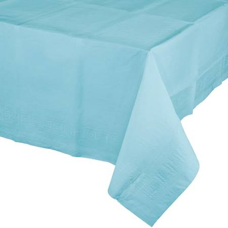 Poly Lined Tissue Tablecover - Pastel Blue