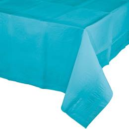 Poly Lined Tissue Tablecover - Bermuda Blue