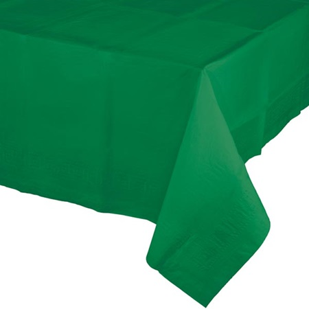 Poly Lined Tissue Tablecover - Emerald Green