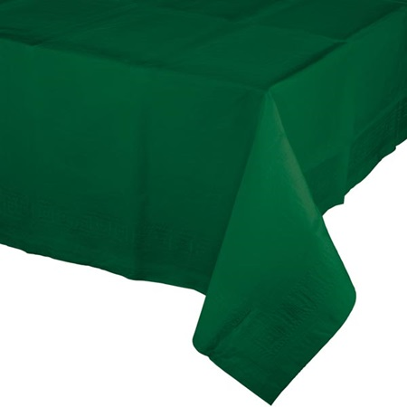 Poly Lined Tissue Tablecover - Hunter Green