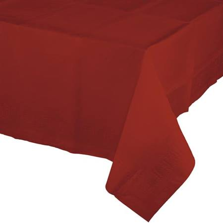 Poly Lined Tissue Tablecover - Brick