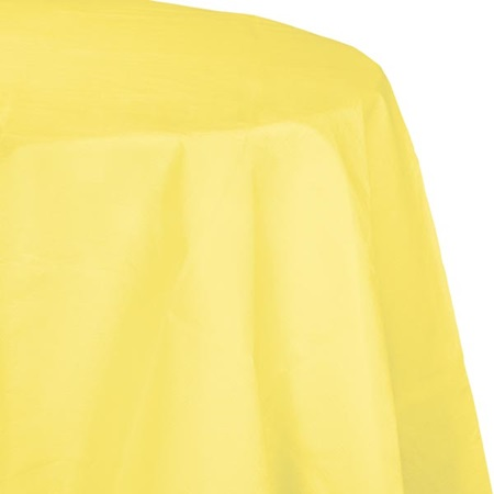 Poly Lined Tissue Round Tablecover - Mimosa