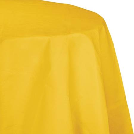 Poly Lined Tissue Round Tablecover - School Bus Yellow