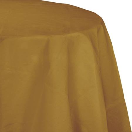 Poly Lined Tissue Round Tablecover - Glittering Gold