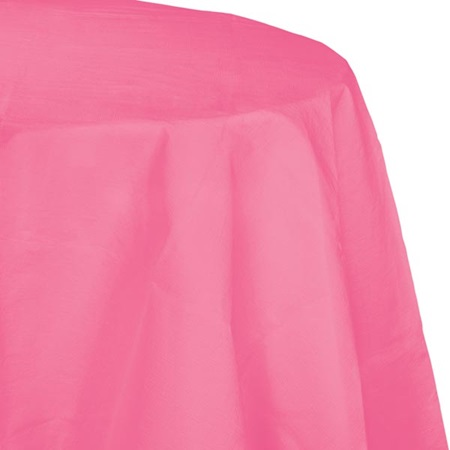 Poly Lined Tissue Round Tablecover - Candy Pink
