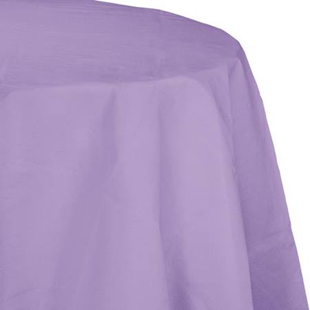 Poly Lined Tissue Round Tablecover - Lavender
